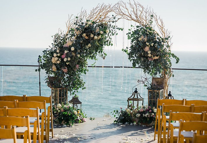 Catalina Terrace with Flower Arch