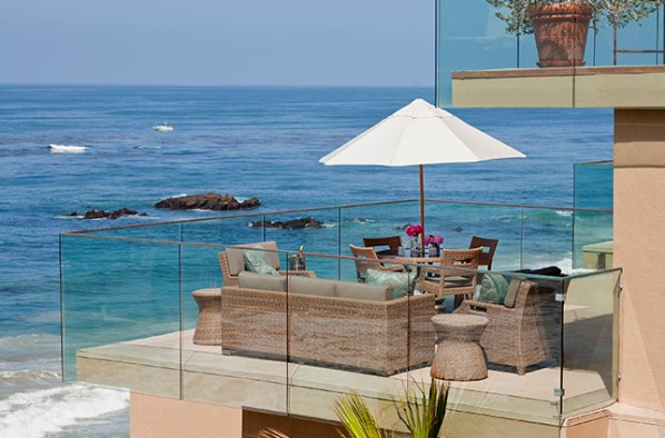 Surf and Sand Resorts Vista Balcony overlooking the ocean