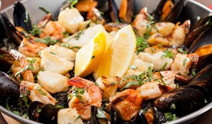 Paella dining special at Splashes Restaurant