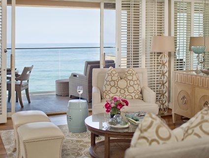 California Suite Living Room at Surf & Sand Resort