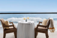 Table for two at our laguna beach hotel overlooking the Pacific Ocean